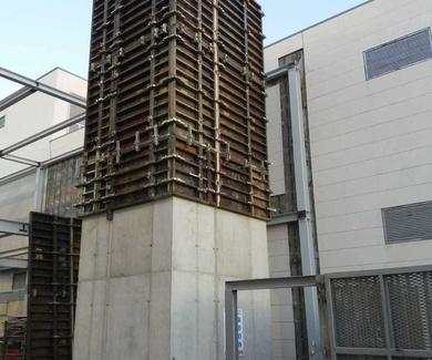 Estructura de hormigón para instalación de ascensor
