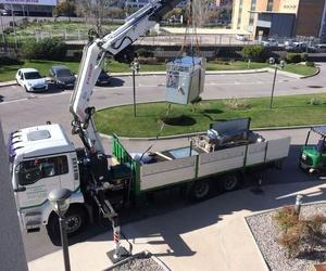 Transporte de maquinaria para la industria farmacéutica
