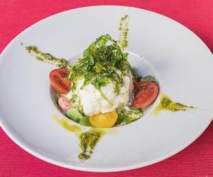 Burrata de mozzarella en Palma de Mallorca
