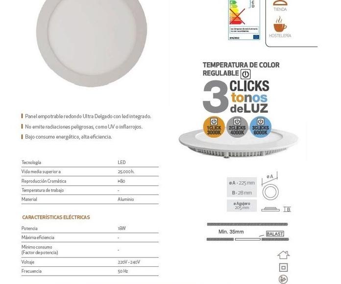 Downlight 3 temperaturas: Productos de Centro Led Almería