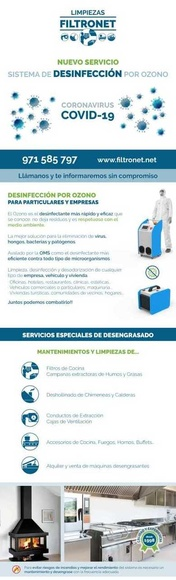 Nuevo servicio: Sistema de Desinfección por Ozono empresas y particulares.