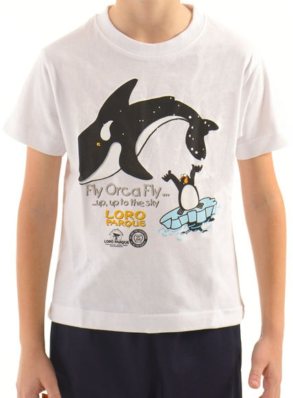 Camiseta Orca Pingüino Niñ@ /  Whale-pengüin chil T-Shirt: Productos de BELLA TRADICION
