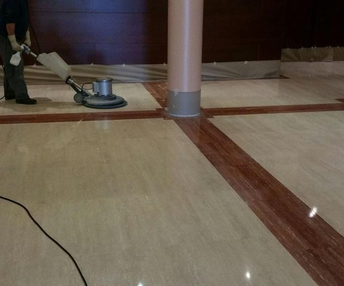 Abrillantado y pulido de suelos en Aluche, Carabanchel y Leganés