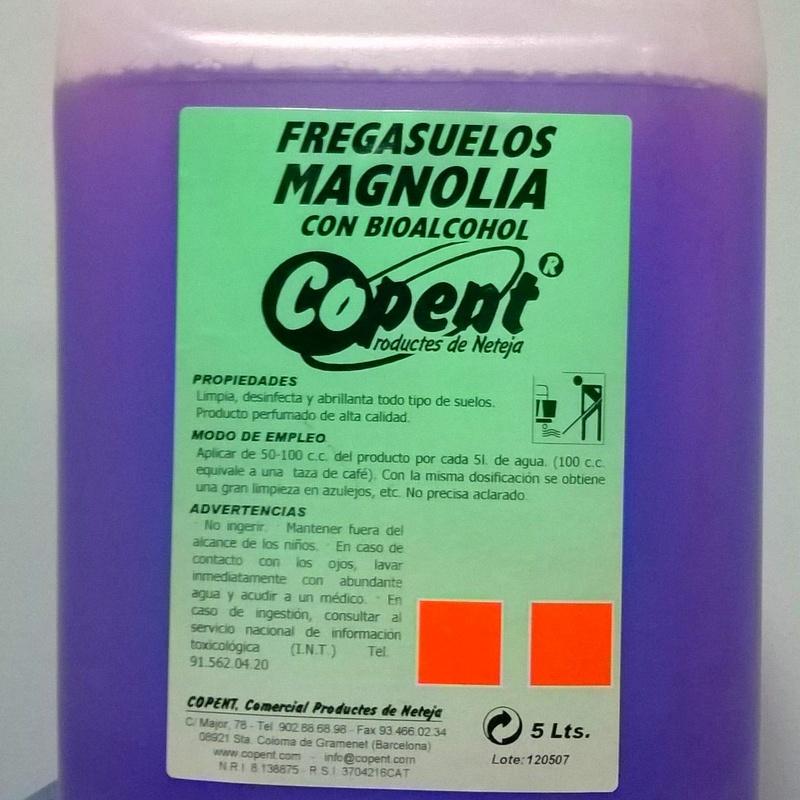 Fregasuelos con Bioalcohol  MAGNOLIA 5L.: SERVICIOS  Y PRODUCTOS de Neteges Louzado, S.L.