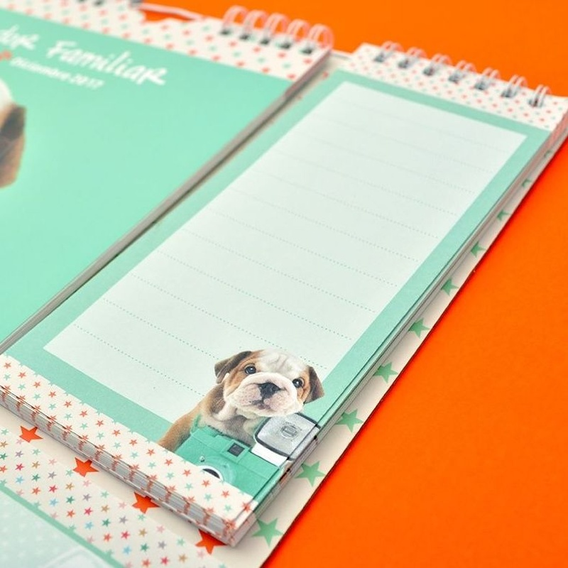 Calendario Planificador Familiar 2016/2017 Studio Pets Dogs