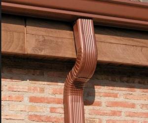 Canalones y bajantes de aluminio lacado