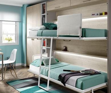 Una cama abatible....