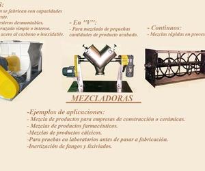 Fabricacion de Mezcladoras de bandas, en ''V'' o continuos