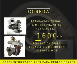 Descuento: Reparación turbo 1.6 PSA 90 CV