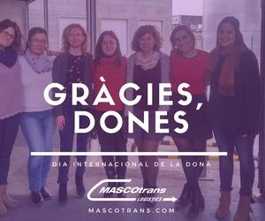 Mascotrans, al costat de les dones en el Día Internacional de la Dona (i en tots els demés)