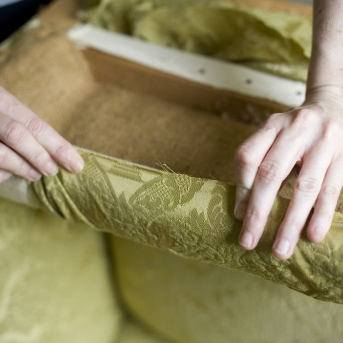 La reparación de muebles antiguos tapizados