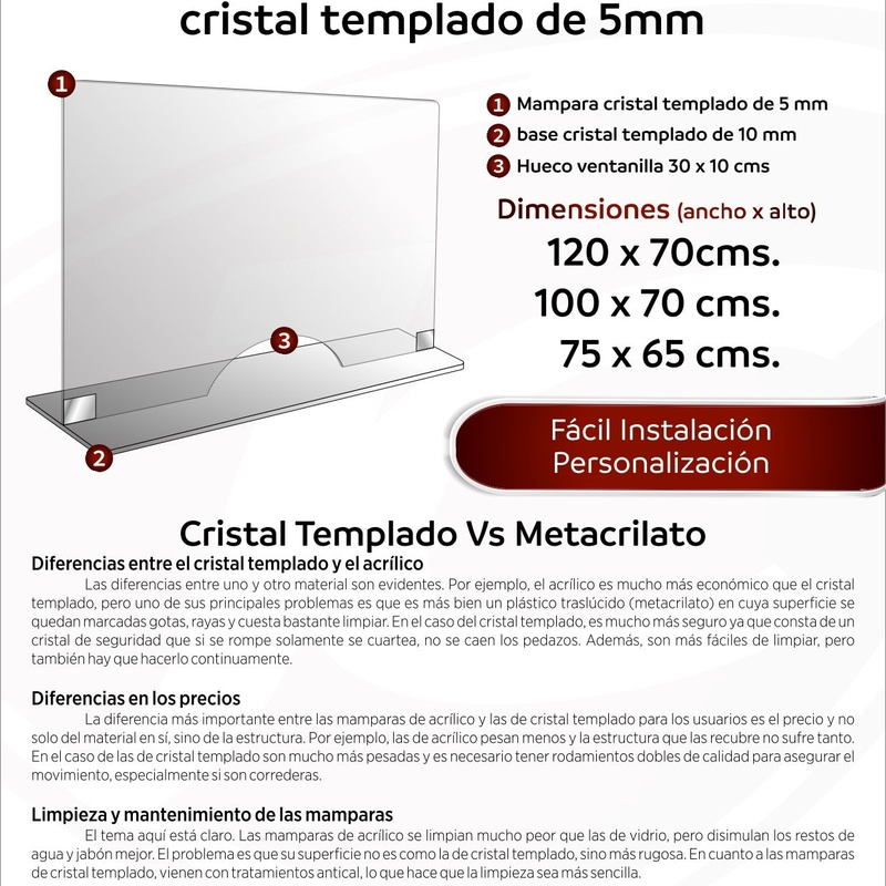Ventanilla cristal templado 5 mm: Catálogo de Jesús Carrasco e Hijo