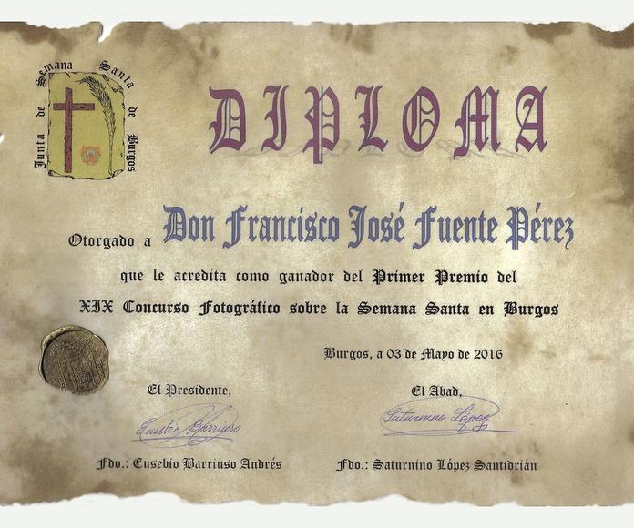 Primer Premio XIX Concurso sobre la Semana Santa en Burgos