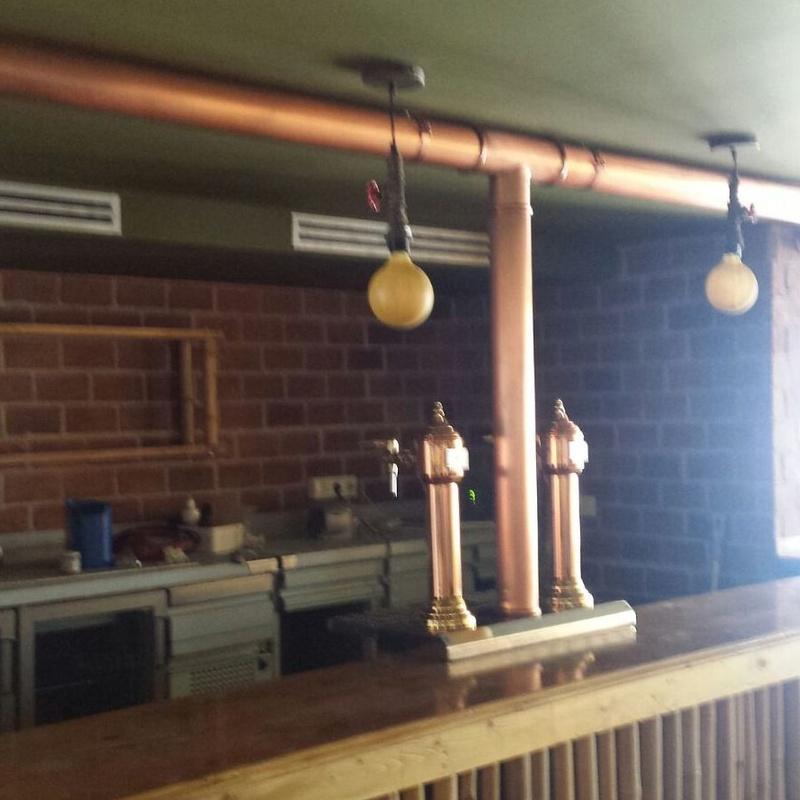 Instalación de cobre en restaurante de Torremolinos