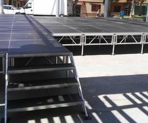 escenario portátil de aluminio .1.23x1.23