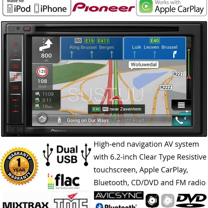 Autoradio 2 DIN multimedia, Dvd, Usb;Gps PIONEER AVIC-F980BT