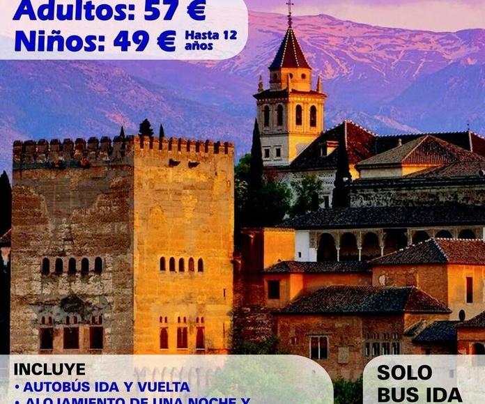 Viaje a Granada desde Murcia, Viaje organizado a Granada desde Murcia, Viajes Torre Alta, Autocares Torre Alta Murcia