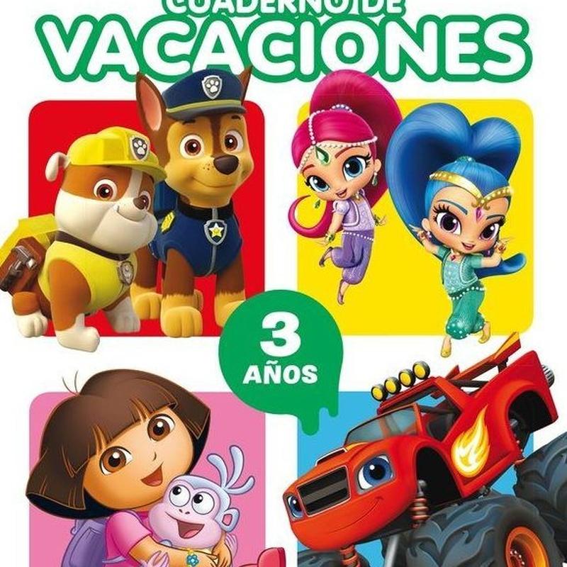 Cuaderno de vacaciones Nickelodeon 3 años  9788437201467