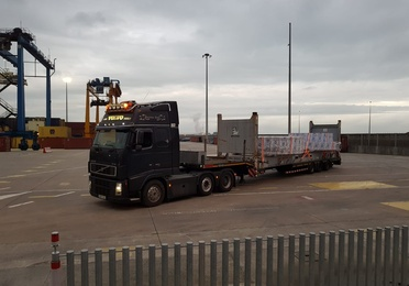 Plataformas extensibles porta-contenedores