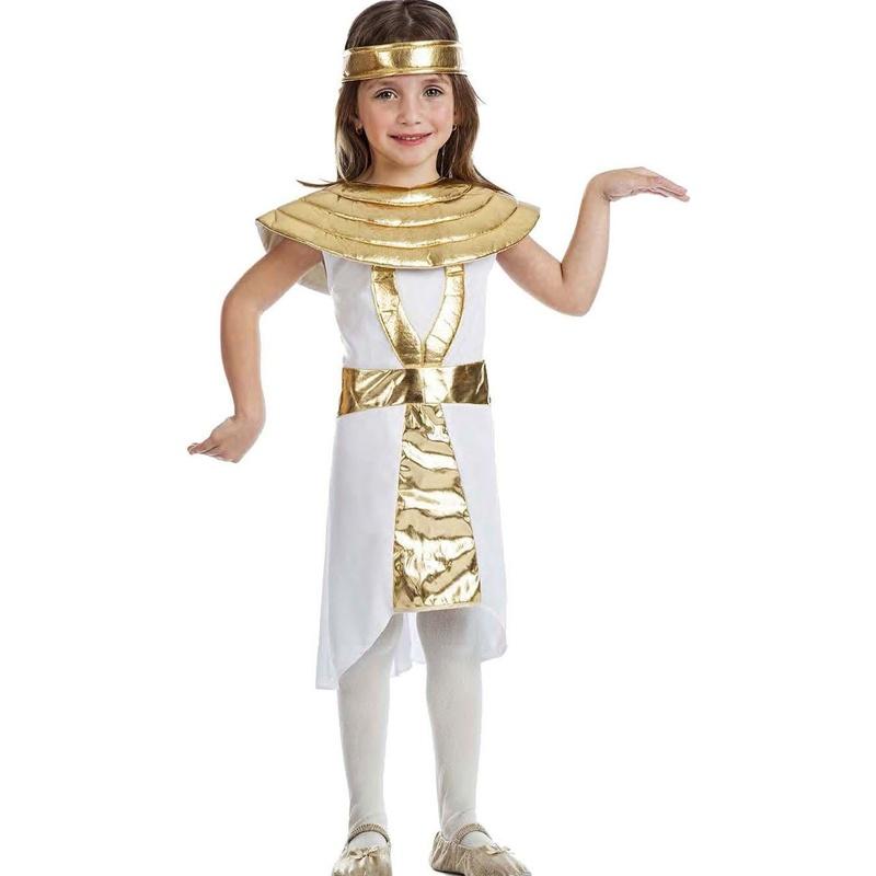 Disfraz egipcia corto infantil