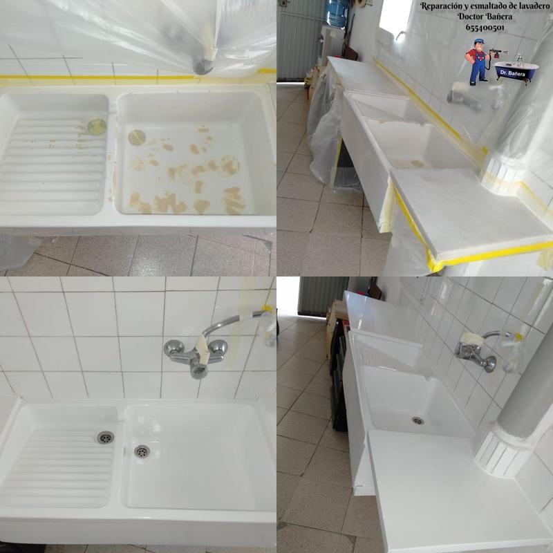 reparación y esmaltado de lavadero