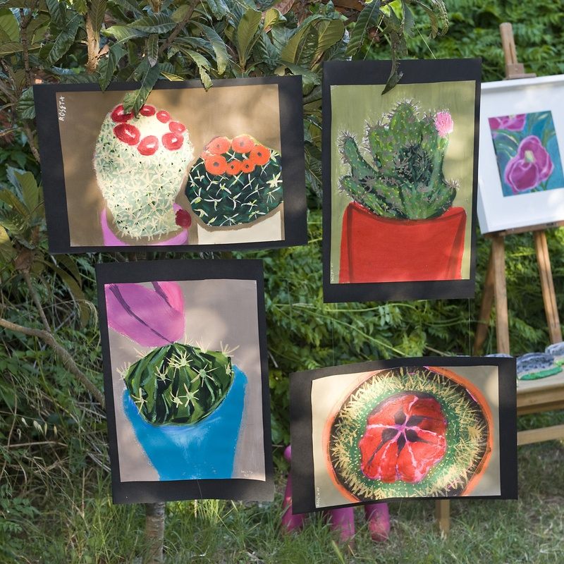 Exposició de `pintura del festival fi de curs 2011