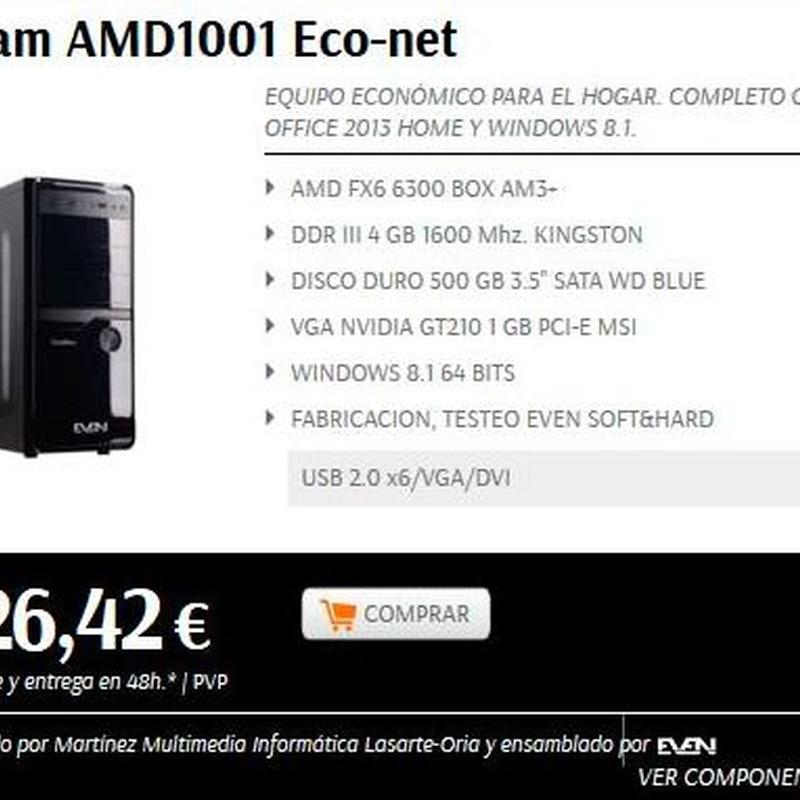 PC´s montaje propio modelo Didam AMD1001 Eco-net