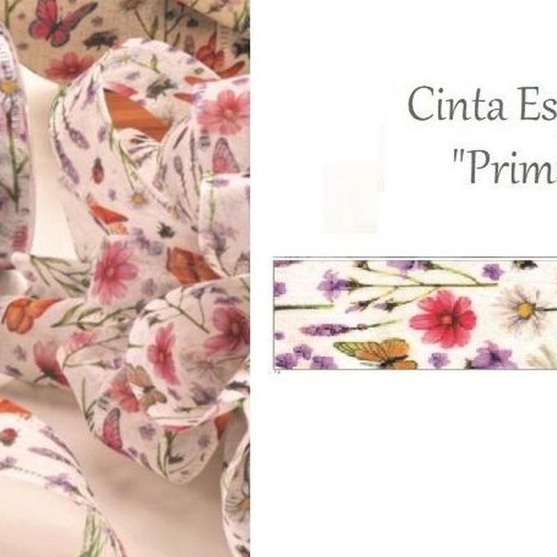 "CINTA MODELO ""Primavera"" (TEJIDO SPUNLACE) 40MM x 20MT COL.01 REF: 0612 PRECIO: 5,25€"