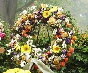 Flores y coronas para difuntos