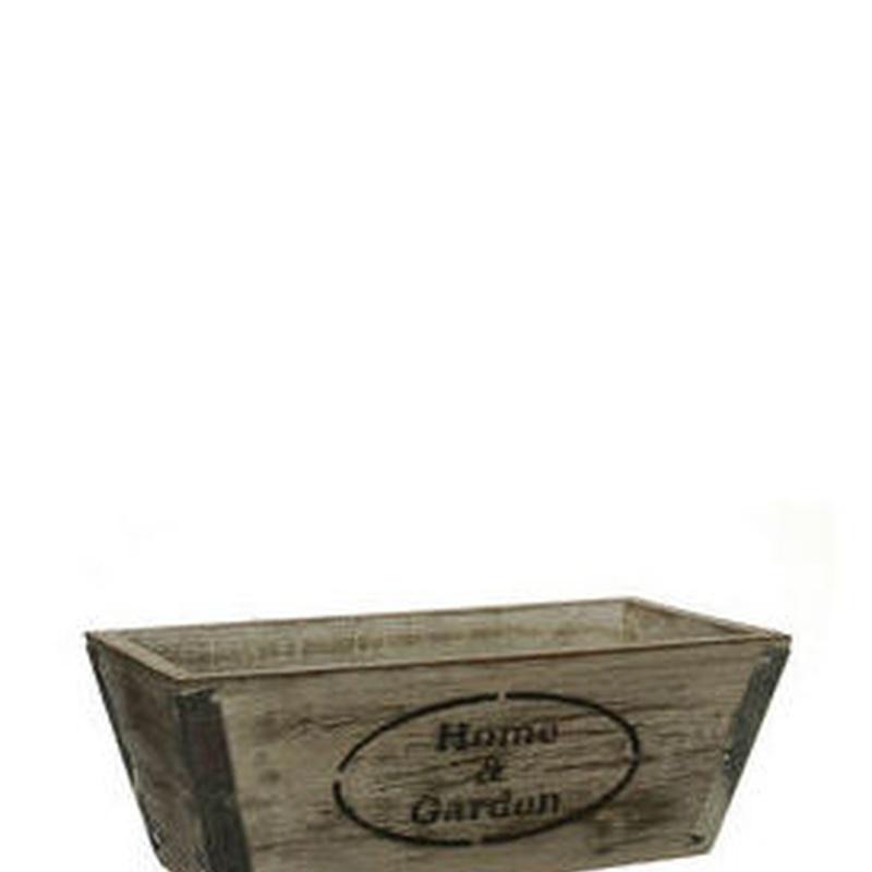JARDINERA DE MADERA (20 x 10 H7,4CM)/ MARRON REF: HOMINO249/BR PRECIO: 2,15€