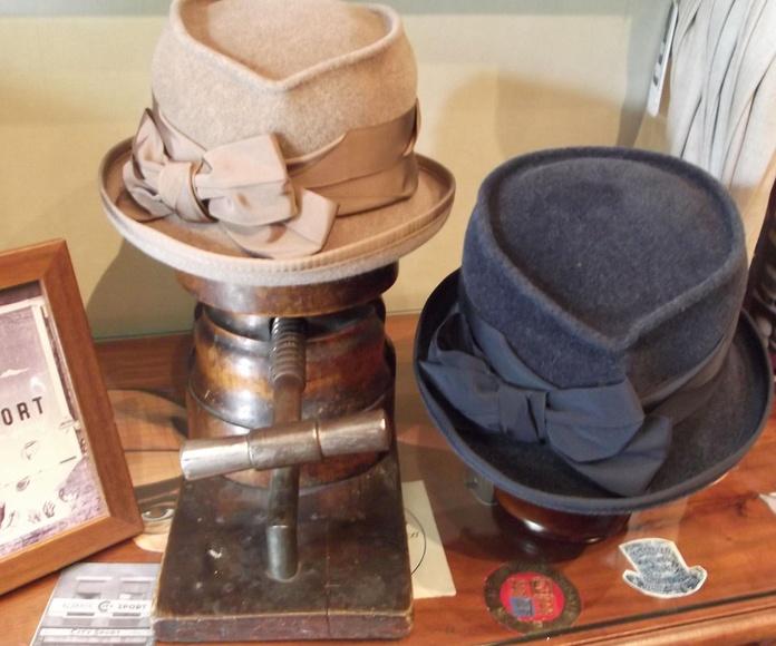 Sombreros fieltro velour mujer.