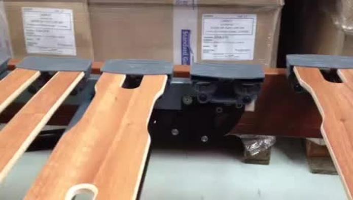 Desplazamiento del primer plano en un somier de cama articulada