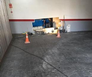 Reparación pared garaje