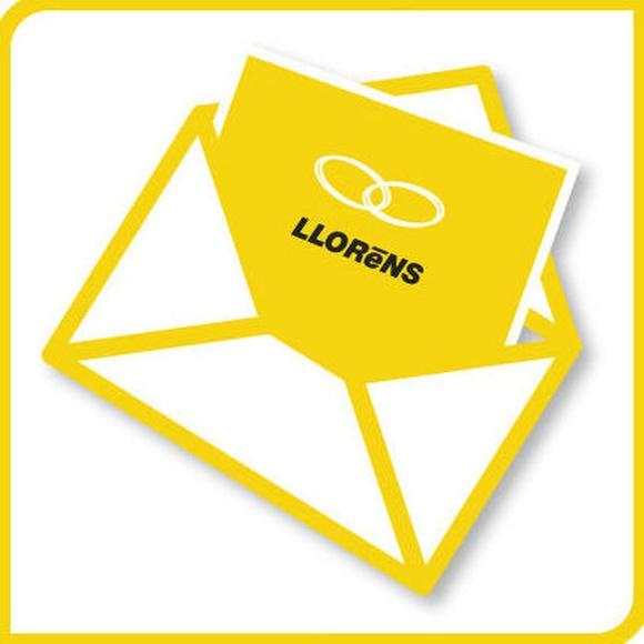 Tarjetones de boda: Productos y Servicios de Imprenta Llorens