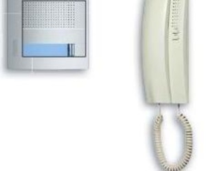 376111 Kit audio 2 hilos con teléfono SWING y placa SFERA New. 1 vivienda.