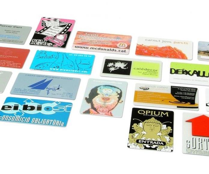 Tarjetas de control de acceso: Serigrafia en Granollers de Dydplas Serigràfic