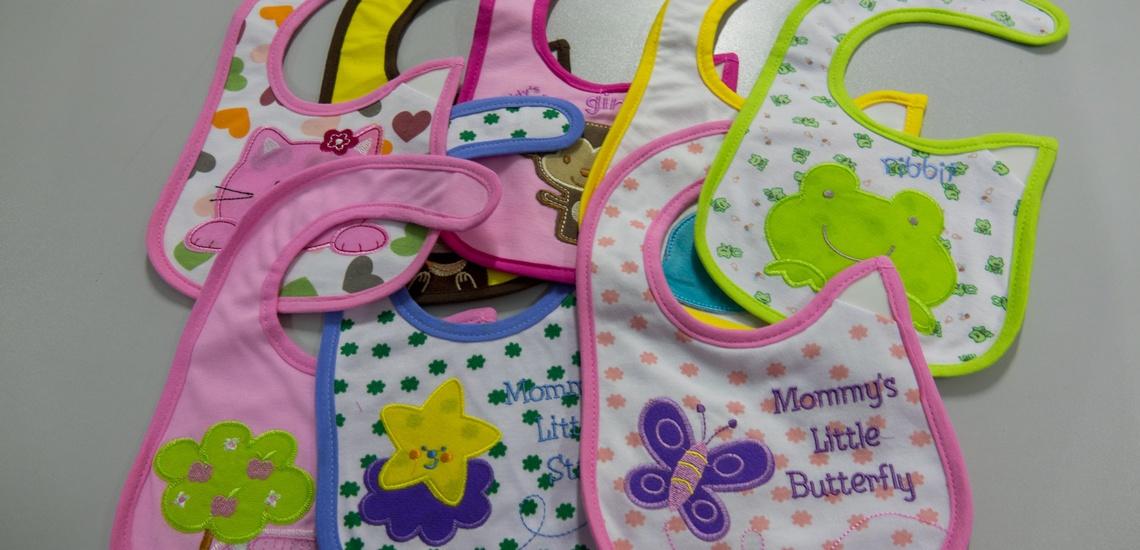 Baberos con bordados personalizados en Valladolid