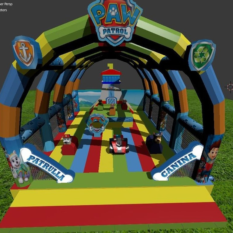 Diseños 3D : Catálogo de Hinchables Happy Jump