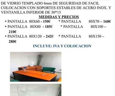 PANTALLAS DE PROTECCIÓN - COVID-19