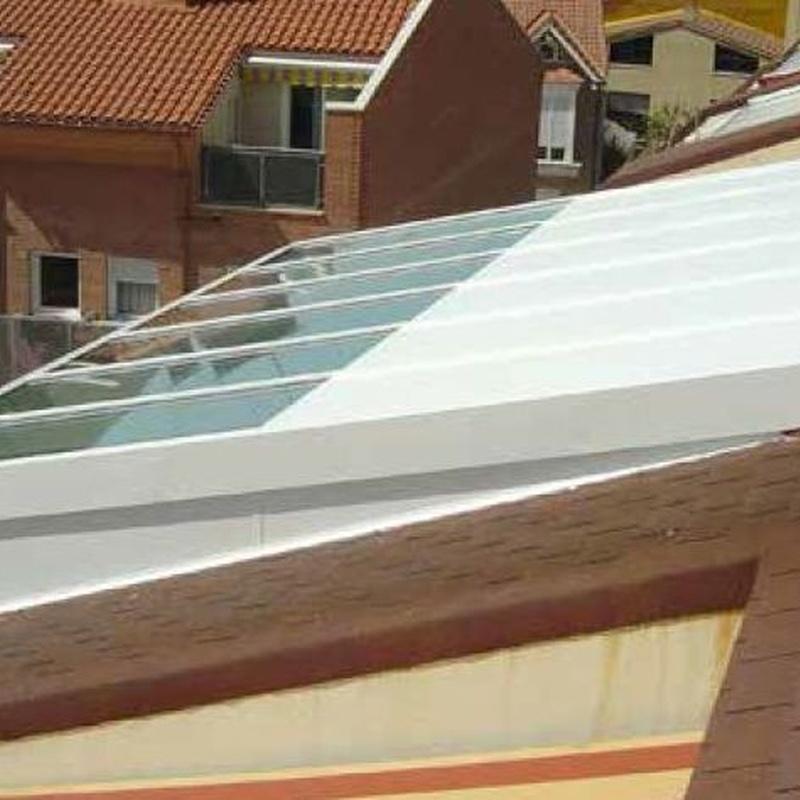 Veranda techo blanco duplex