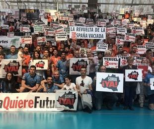 Pantallas Movidic apoyando las reivindicaciones de Soria Ya y Teruel Existe previo al 31M