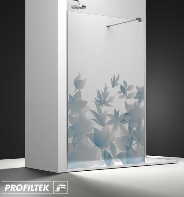 Mampara de baño Profiltek walk-in serie Belus modelo BS-20 decoración Fashion
