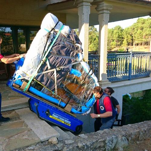 Transporte de piano de cola Yamaha C3 con pianoplan