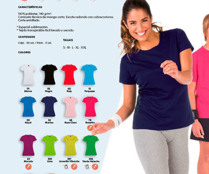 Camisetas Técnicas 100% Poliester