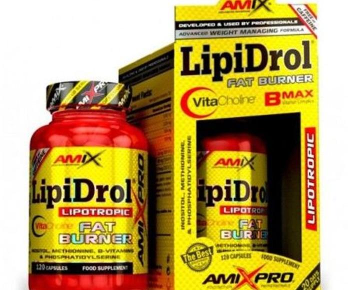 Amix® LipiDrol® Fat Burner es un complemento alimenticio desarrollado para el control de peso libre de estimulantes basado en la avanzada y patentada forma de Colina: VitaCholine™, junto a otros importantes componentes como Inositol, Metionina y el súper