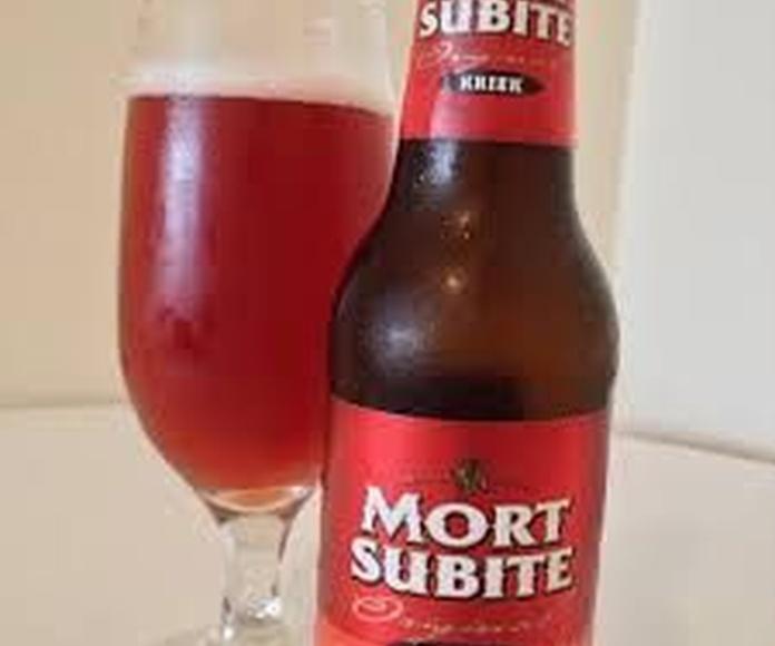 Mort Subite Kriek: En nuestro local de Cervecería Ca'Melán