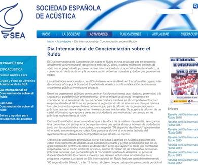 Día Internacional de Concienciación sobre el Ruido