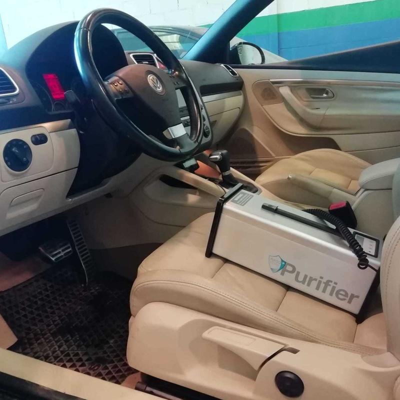 Limpieza de vehiculos con ozono en Barcelona. Auto Plancha Piera