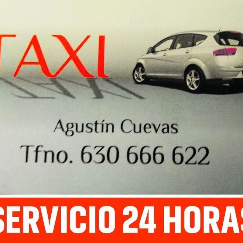 Disponibilidad 24 horas: Servicios de Taxi Agustín