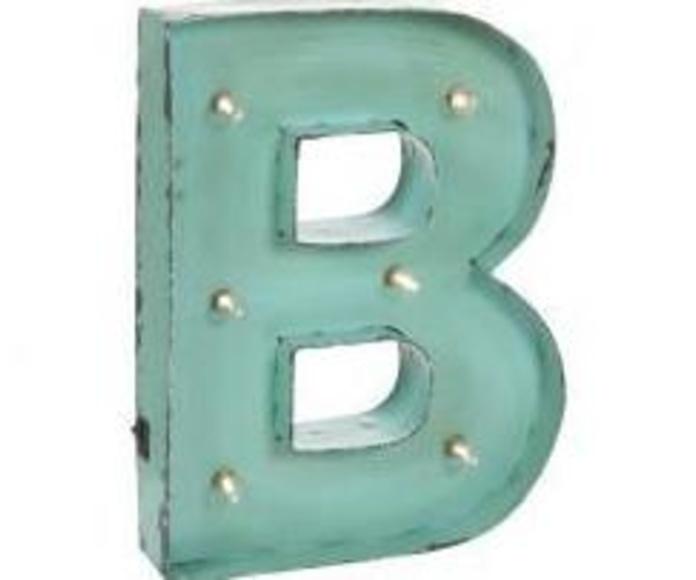 Letras con luces B